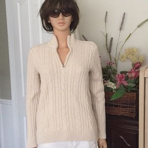 Croft and Barrow zip up cotton sweater
